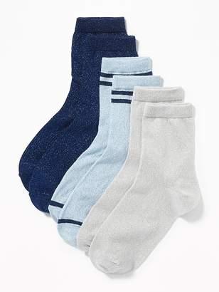 Old Navy Sparkle-Knit Midi Socks 3-Pack for Women
