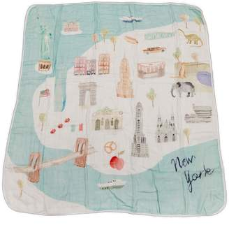 Loulou Lollipop New York City Deluxe Muslin Swaddle Blanket