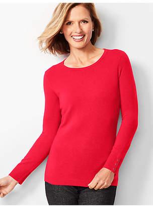 Talbots Cashmere Crewneck Sweater - Solid