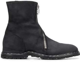 Premiata front zip detail ankle boots