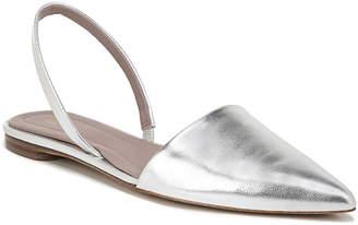 Diane von Furstenberg Koko Metallic Leather Slingback Flats