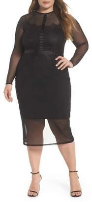 LOST INK Body-Con Mesh Dress