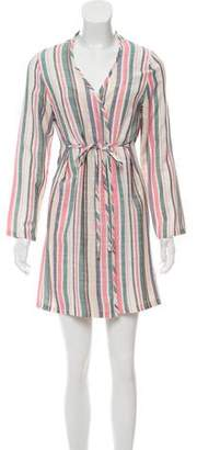 Solid & Striped Striped Long Sleeve Mini Dress