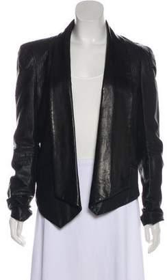 Rebecca Minkoff Leather Shawl Collar Blazer
