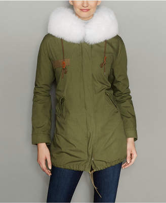 The Fur Vault Rabbit-Fur-Lined Hooded Parka