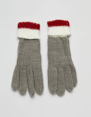 French Connection color block glove
