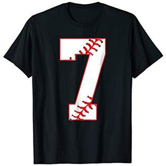 Cute Seventh Birthday Party 7th Baseball T-Shirt Born 2011