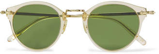 Oliver Peoples Op-505 Round-Frame Acetate And Silver-Tone Polarised Sunglasses