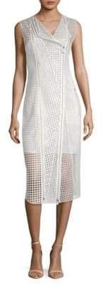Akris Delaware Cut-Out Silk Midi Dress