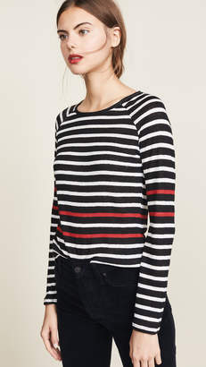 Frame Raglan Mix Stripe Sweater