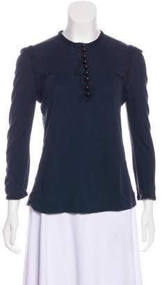 Marc Jacobs Long Sleeve Crew Neck Top