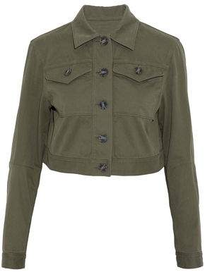 Alexander Wang Cropped Stretch-Cotton Twill Jacket