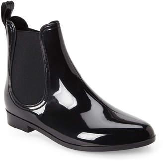 N. Henry Ferrera Black Clarity Chelsea Jelly Rain Boots