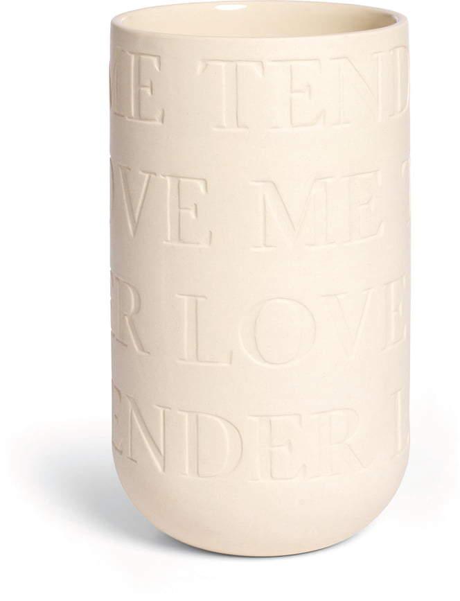 Kähler Design - Love Song Vase H 220, Kalkweiß
