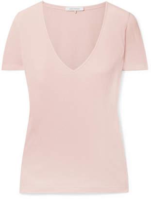 Ninety Percent - Marisa Ribbed Organic Cotton-jersey T-shirt - Blush