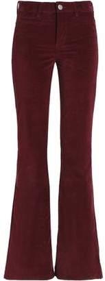 MiH Jeans Velvet-Faille Bootcut Jeans