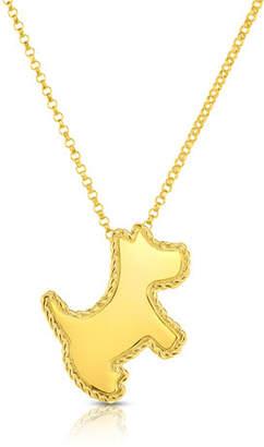 Roberto Coin 18k Scottie Dog Pendant Necklace