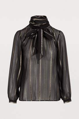 Vanessa Seward Golden striped blouse