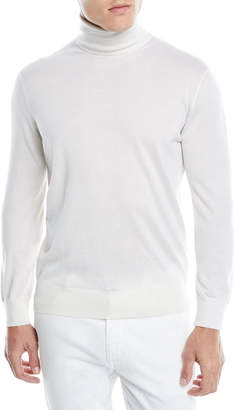 Ermenegildo Zegna Men's Cashmere-Silk Turtleneck Sweater