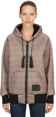 Coach Embroidered Neoprene Jersey Sweatshirt