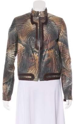 Fendi Leather Zip Jacket