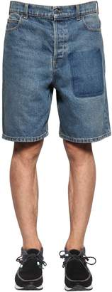 J.W.Anderson EMBROIDERED POCKET COTTON DENIM SHORTS