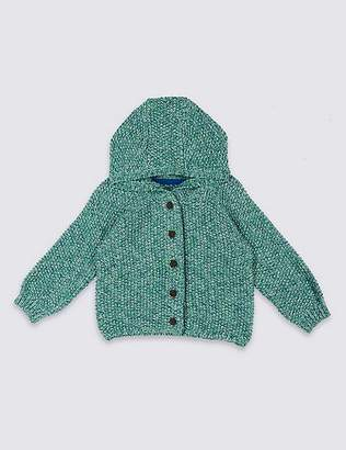 Marks and Spencer Pure Cotton Hooded Cardigan
