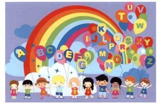 Fun Rugs Educational Balloons Kids' Rug, Multi-Color