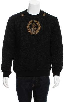 Dolce & Gabbana Crown and Bee Embroidered Baroque Sweater