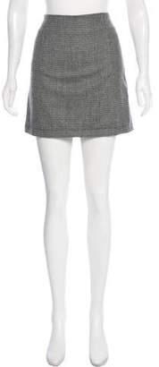 Simon Miller Wool-Blend Houndstooth Mini Skirt