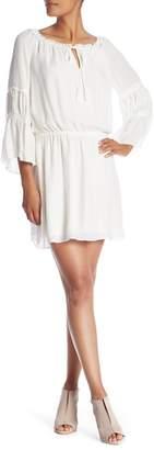 Ramy Brook Keely Bell Sleeve Silk Dress