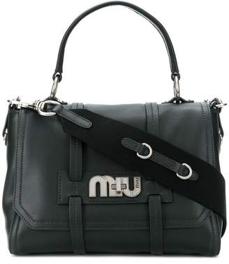 Miu Miu medium cartella logo tote