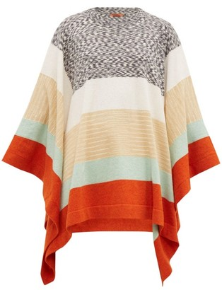 Missoni Striped Wool Poncho - Womens - Cream Multi