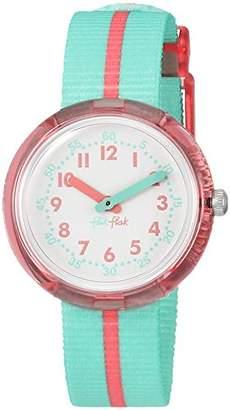 Flik Flak Girls' Analogue Quartz Watch with Textile Strap FPNP020
