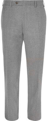 Canali Grey Super 120s Wool Trousers