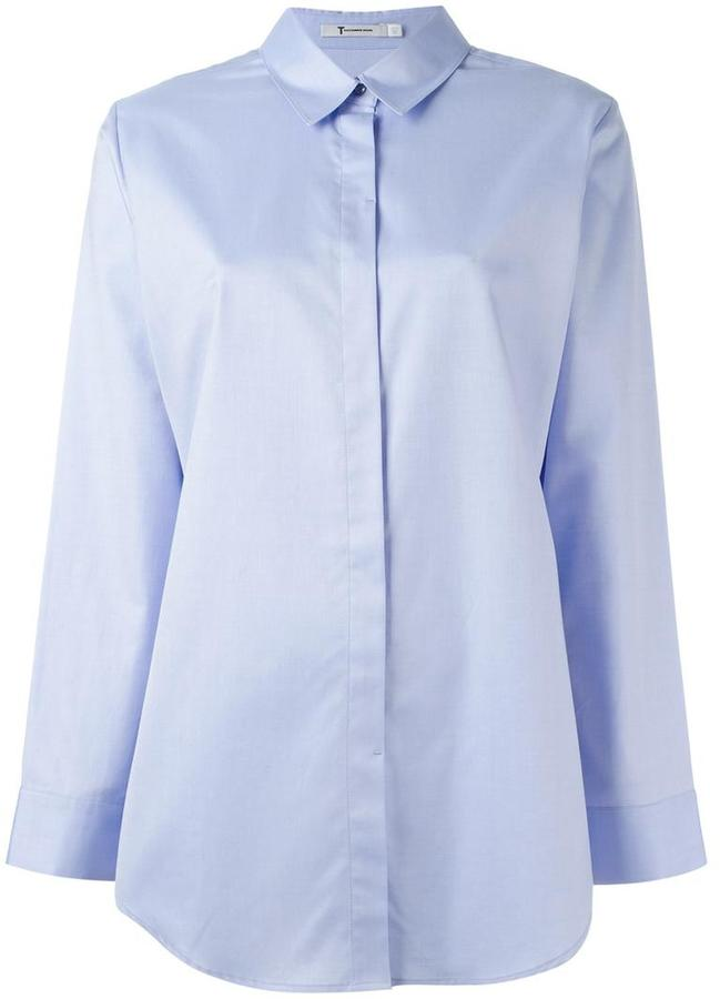 Alexander Wang T By Alexander Wang long line shirt