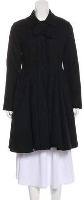 Lanvin Bow-Accented Knee-Length Coat