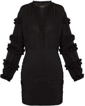 Isabel Marant Celest ruffle-trimmed cotton-gauze dress