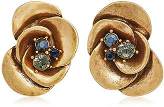 Badgley Mischka Large Flower Stud Earrings