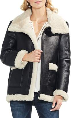 Vince Camuto Faux Leather Shearling Coat