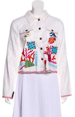 Ramy Brook Embroidered Denim Jacket w/ Tags