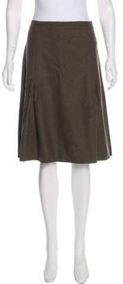 Burberry Wool & Angora Knee-Length Skirt