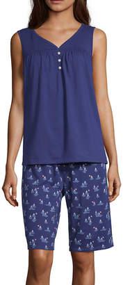 Adonna Womens Shorts Pajama Set 2-pc. Short Sleeve