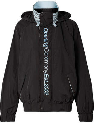 Opening Ceremony Embroidered Crinkled-shell Track Jacket