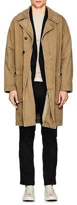 Sage De Cret Men's Cotton-Linen Mechanic's Trench Coat