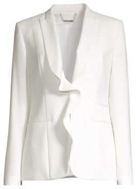 Elie Tahari Serena Ruffle Front Jacket