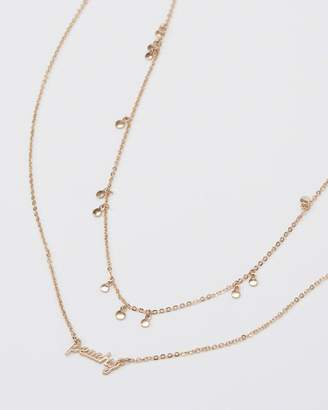 Abercrombie & Fitch Multi-Strand Peachy Necklace
