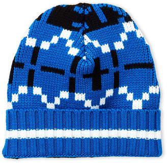 Fiorucci Blue Knit Wool Beanie