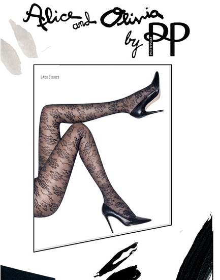Pretty Polly Alice + Olivia Collaboration Lace Tights