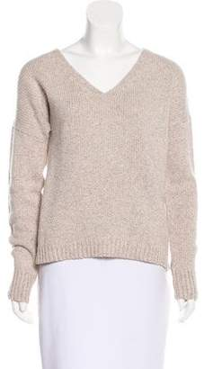 Theory V-Neck Wool Sweater